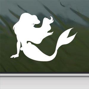 31r%2B2ff75bL. SL500  Disney White Sticker Decal Little Mermaid Ariel White Car Window Wall Macbook Notebook Laptop Sticker Decal