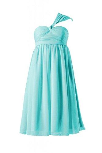 Daisyformals Short Empire Chiffon Bridesmaid Dress(Bm731Em)- Tiffany Blue