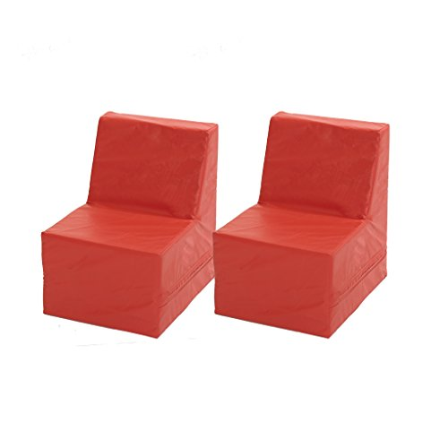 ECR4Kids SoftZone Youth Chair (2-Pack), Red