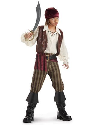 Kids Rogue Pirate Costume - Ahoy matey! (Sword not included)