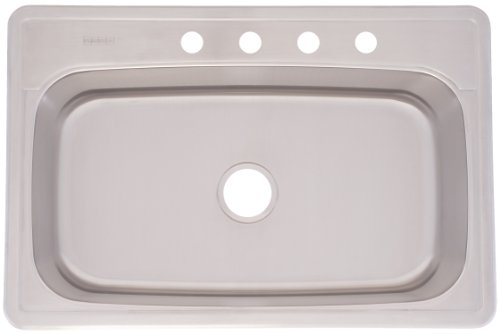 FrankeUSA FSLG804BX Large Single Bowl Stainless Steel 33x22in. Topmount Sink