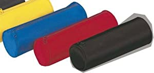 Pagna Basic Colours Pencil Case Durable Nylon 220 x 70 mm Piping Red