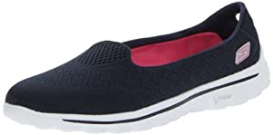 Skechers Women's Go Walk 2-Axis Fashion Sneaker,Navy/Pink,9.5 M US