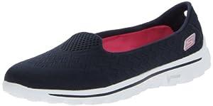 Skechers Women's Go Walk 2-Axis Fashion Sneaker,Navy/Pink,9.5 M US