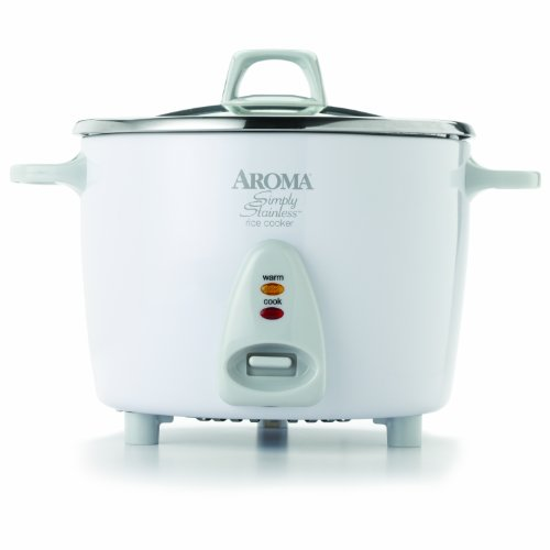 Aroma Housewares Simply Stainless 14-Cup (Cooked)  (7-Cup UNCOOKED) Rice Cooker, Stainless Steel Inner Pot (ARC-757SG) (Rice Cook Pot compare prices)