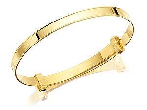 9ct Gold Diamond Expanding Baby Bangle