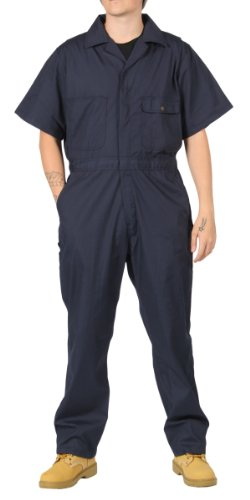 KEY Deluxe Overalls Navy Blue Mens Unlined Work Coveralls