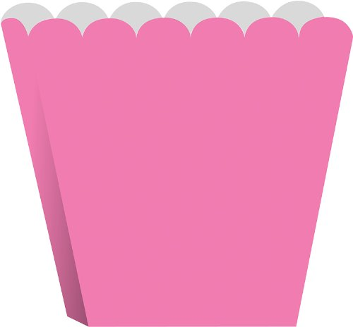 Creative Converting Treat Boxes, Candy Pink, 8 Per Package