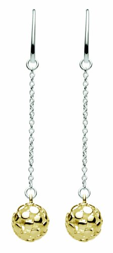 Kit Heath Gold And Sterling Silver Bubble Drop Earrings 60185GD006