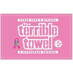 NFL Pittsburgh Steelers Breast Cancer Awareness Pink Terrible Towel by TNT Media- Licensed Sports