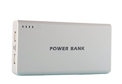 Generisches 50000mAh External Power Bank Backup-Dual-USB-Ladegerät für iPad, iPad 2/3, iPhone 5, iPhone 4, iPhone 4S, iPod, Blackberry, HTC, Android, Samsung (Grau)