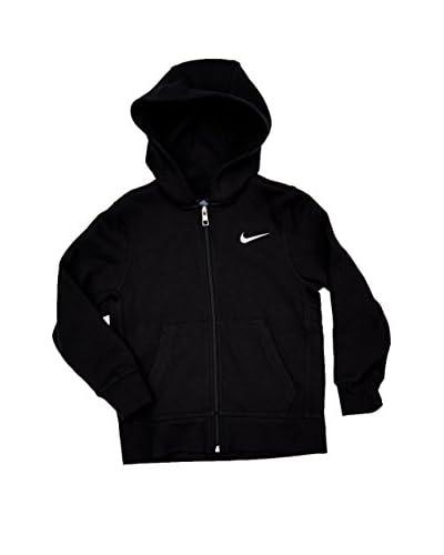 Nike Giacca Felpa Brushed Zwart