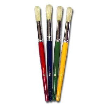 Childrens Paint Brushes 4 Chunky Hogs Hair Brushes Size 18