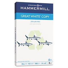 Hammermill Great White Recycled Copy Paper, 92
