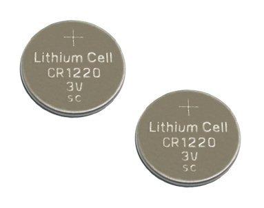 Techtastic' 2x CR1220 batteries de voiture clés alarme fob piles de la télécommande