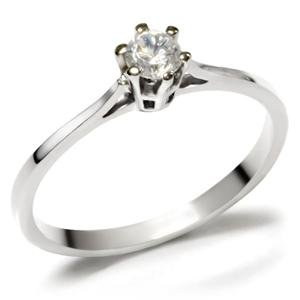 NEVER FADE - Stainless Steel Round Cut CZ Solitaire Wedding Engagement Ring