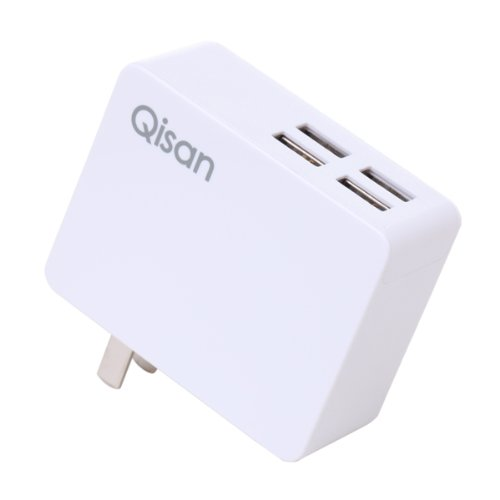 Qisan C40 5A / 4 Port Usb Wall Charger Travel Power Adapter For Iphone