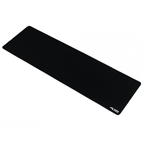 Glorious Extended Gaming Mouse Mat / Pad - XXL Large, Wide (Long) Black Mousepad, Stitched Edges | 36