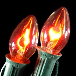 Replacement Bulbs, C7 Flicker Flame, 1W/120V, 2 Pack, Rounded Tip