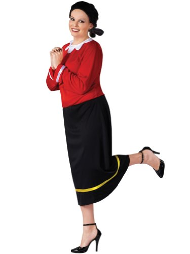 Plus Size Theatre Costume Olive Oyl Costume Popeye Comic Book Couples Costume
