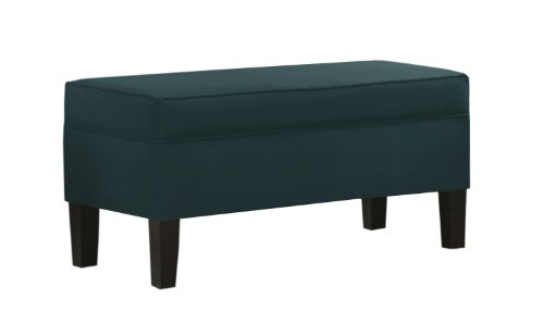 Skyline Furniture Modern Velvet Upholstered Storage Bench, Peacock at Sears.com