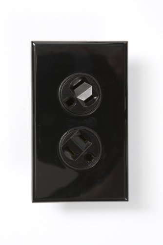 360 Electrical 36014-B Rotating Duplex Outlet, Black