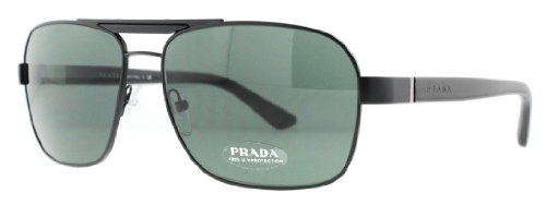 prada Prada PR55OS Sunglasses-1BO/3O1 Matte Black (Green Lens)-60mm