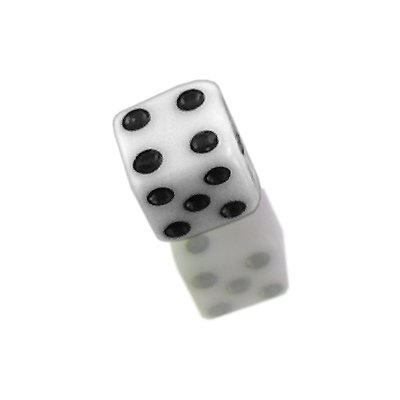 White Color 4Mm Uv Acrylic Dice Threaded For 16G(1.2Mm)