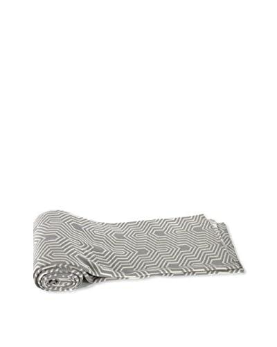A&B Home Cotton Geometric Throw, Grey