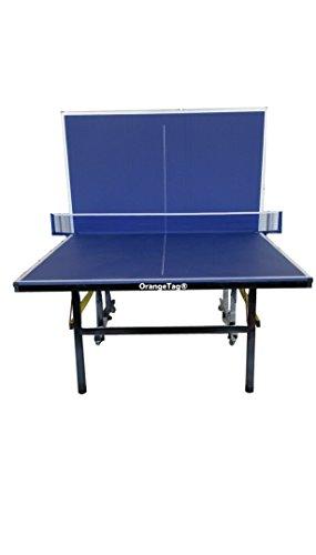 OrangeTag Inside Indoor Table Tennis Table, 18mm table top, 8 wheels, easy folded, roll away