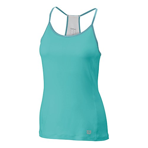 Wilson Strappy Tank-Maglietta sportiva da donna, Donna, verde, M