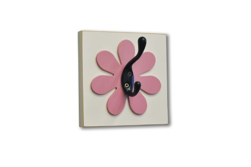 Homeworks Etc Flower Single Wall Hook, Dark Pink front-1067462