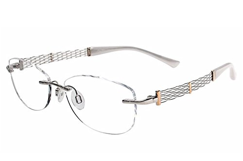 Charmant Line Art Eyeglasses XL2040 XL/2040 WG White Gold Optical Frame 53mm (Charmant Eyeglass Frames compare prices)