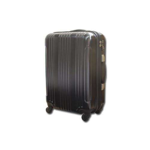 【1年保証付】軽量ファスナー スーツケース R2622 大型 ブラック