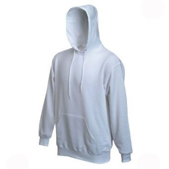 Fruit Of The Loom Mens Hooded Sweatshirt / Hoodie (L) (White)