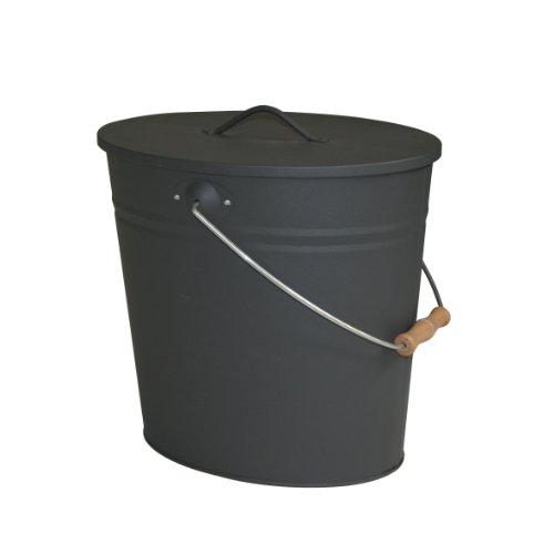 Kamino-Flam-Ascheeimer-fr-den-Kamin-Kohleneimer-15-Liter-mit-Deckel-und-Tragegriff-Mlleimer-oder-Abfalleimer-fr-Innen-und-Auen-Eimer-fr-Kohle-und-Asche-Kamin-Ofen-Grill