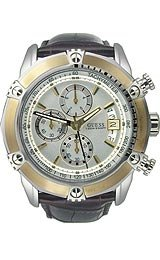 Guess Waterpro Brown Leather Chronograph Silver Dial Men's Watch #U16518G1