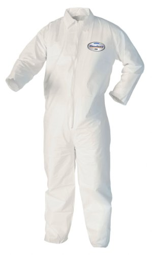 KleenGuard Coveralls A 40 Liquid and Particle Protection Apparel (44306), White, 3XL (XXXL), 25 Garments / Case