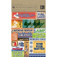 Boy Scouts Foil Embossed Stickers 4-1/2-Inch by 6-Inch Sheet, Water & Snow Sports