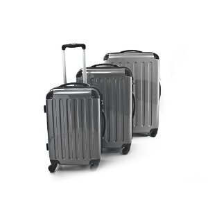 3er Kofferset Hartschale Trolleys silbergrau