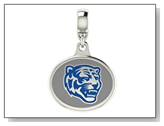 Memphis Tigers Collegiate Drop Charm Fits Most Pandora Style Bracelets Including Pandora Chamilia Zable Troll and More. High Quality Bead in Stock for Fast Shipping.
