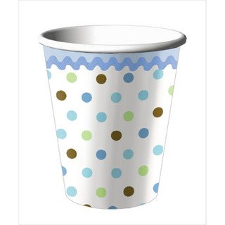 Tickle Blue Baby 9 Oz Cups - 8/Pkg