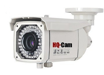 """Hq-Cam® Cctv Home Video Outdoor Ccd Bullet Security Camera - 700 Color Tv Lines Sony Super Had Ii Ccd 1/3"""" Sony Super Had Ii Ccd Build-In 48Ir Infrared Leds 2.8-12Mm Vari-Focal Lens Outdoor/Indoor Weatherproof And Vandalproof Day Night Vision For Cctv Sur"""