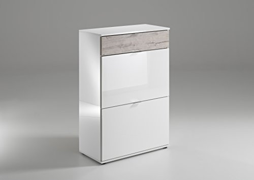 shoe-cabinet-high-gloss-and-sand-oak-multi-purpose-cabinet