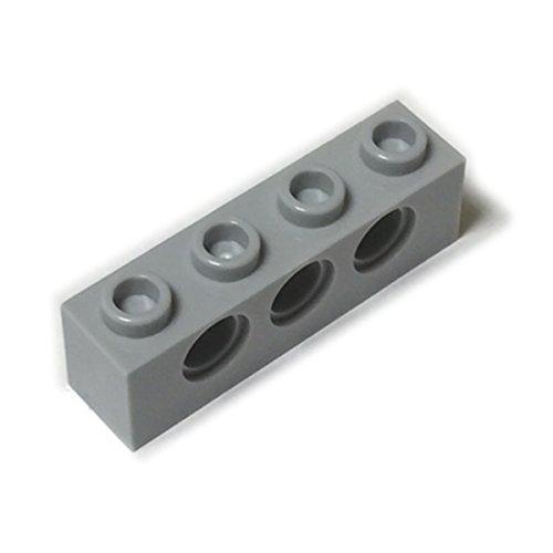 LEGOブロック・純正パーツ<テクニック・ブロック>Light Bluish Gray・1 x 4 with Hole【並行輸入品】
