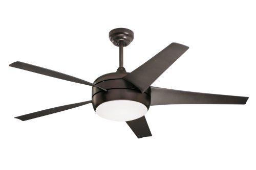 Emerson CF955ORB Midway Eco 54-Inch Energy Star Indoor Ceiling Fan with Oil-Rubbed Bronze Blades and Opal Glass, Oil-Rubbed Bronze