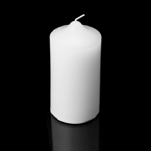 3 x 6 Pillar Candles (Bulk 12Pcs) White