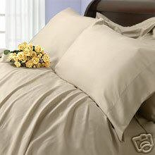 Rayon From Bamboo Duvet Cover Set - Queen Size Beige/ Linen 100% Silky Bamboo 3Pc Duvet Set front-1023469