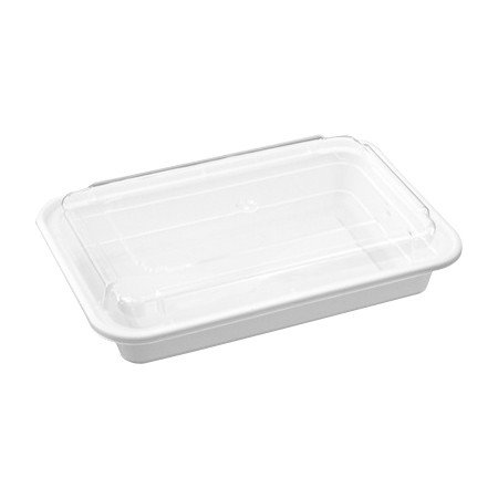 Reusable Microwaveable Food Storage Containers - Pack of 10 Stackable Bento Lunch Boxes with Lids, Freezer and Dishwasher Safe - 1 Compartment, 28oz - White - By Homeryware