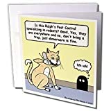 Rich Diesslins Funny Cat Cartoons - Cat Pest Control - Greeting Cards-12 Greeting Cards with envelopes